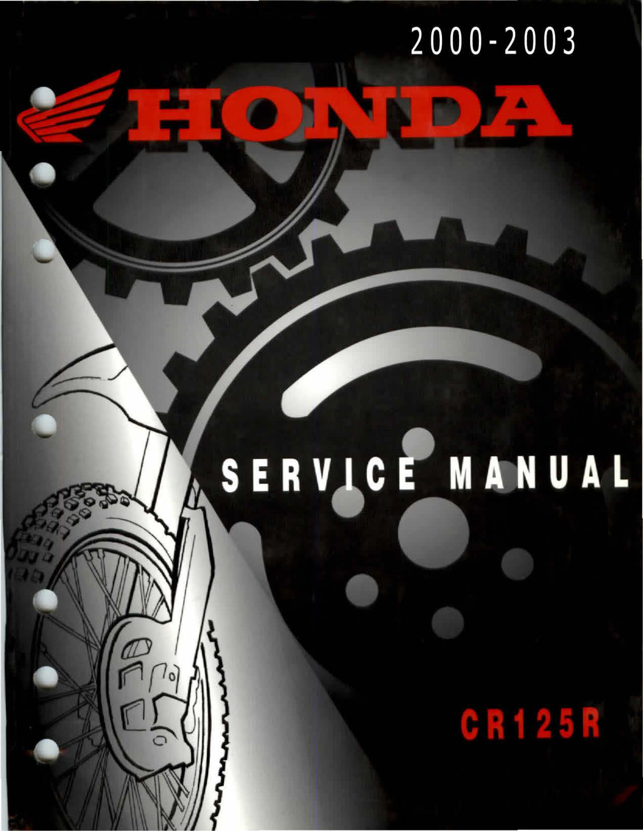 Workshop manual for Honda CR125R (2000-2003)