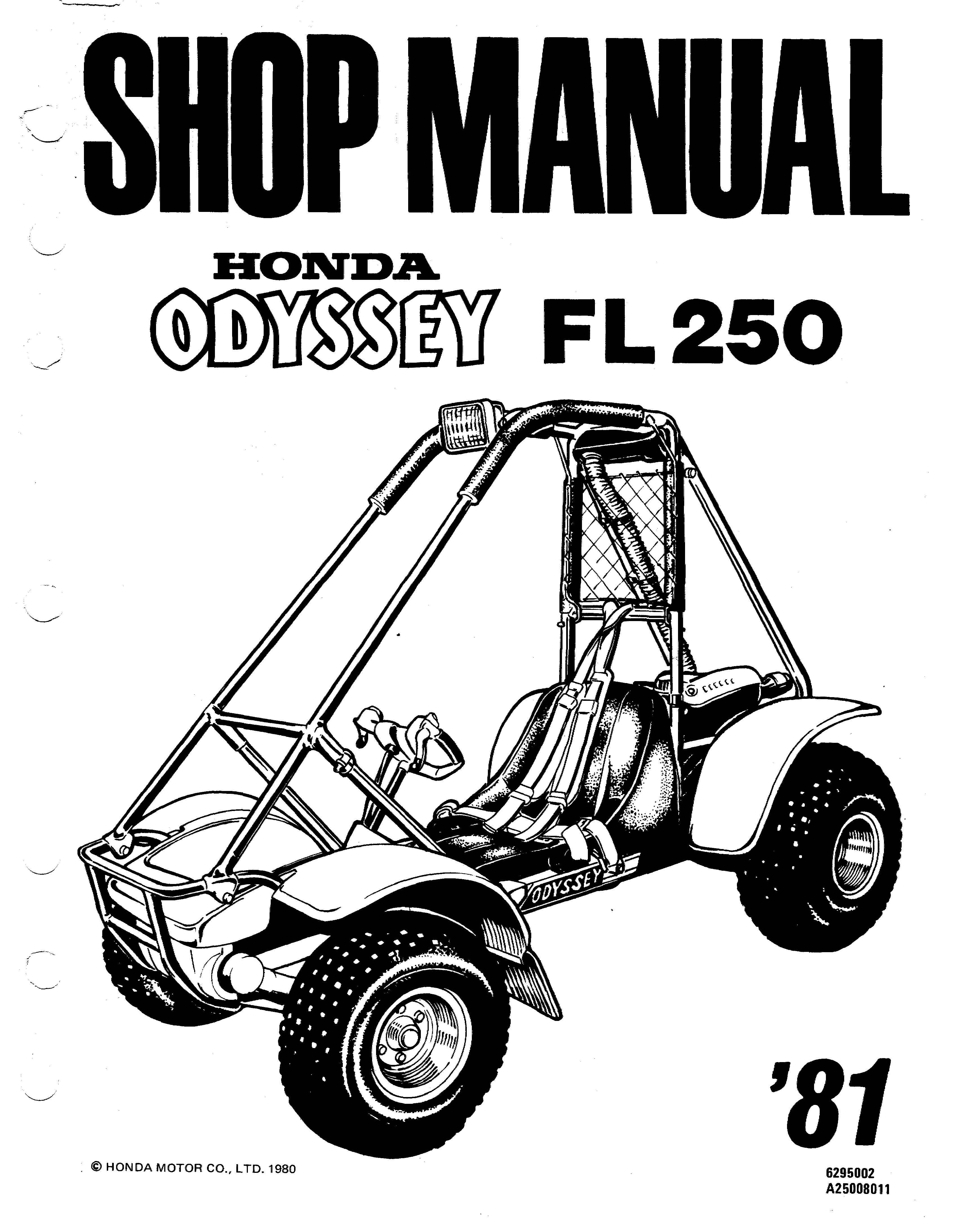 Workshopmanual for Honda FL250 Odyssey (1981)