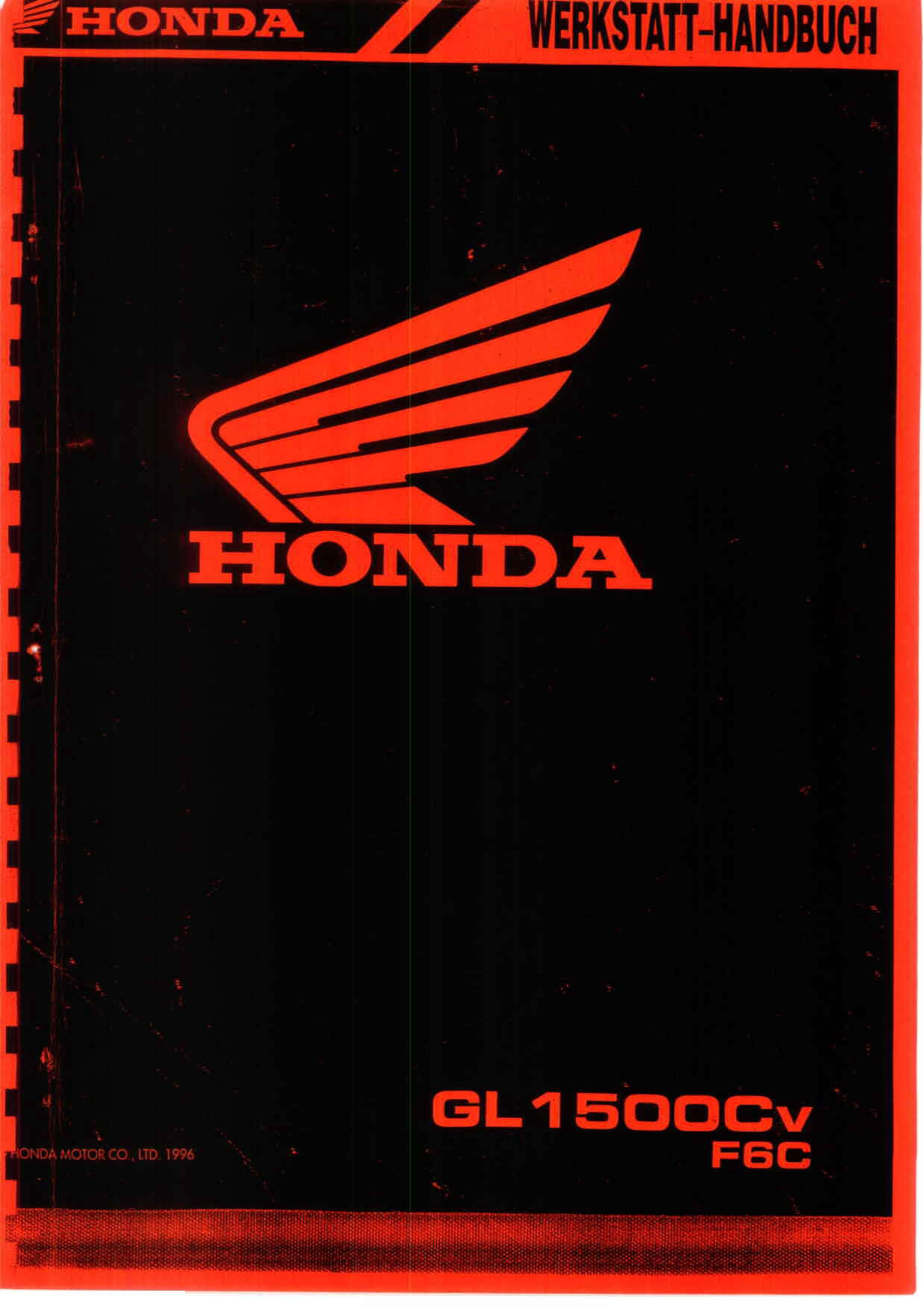 Workshop manual for Honda GL1500CV F6C (1996) (German)