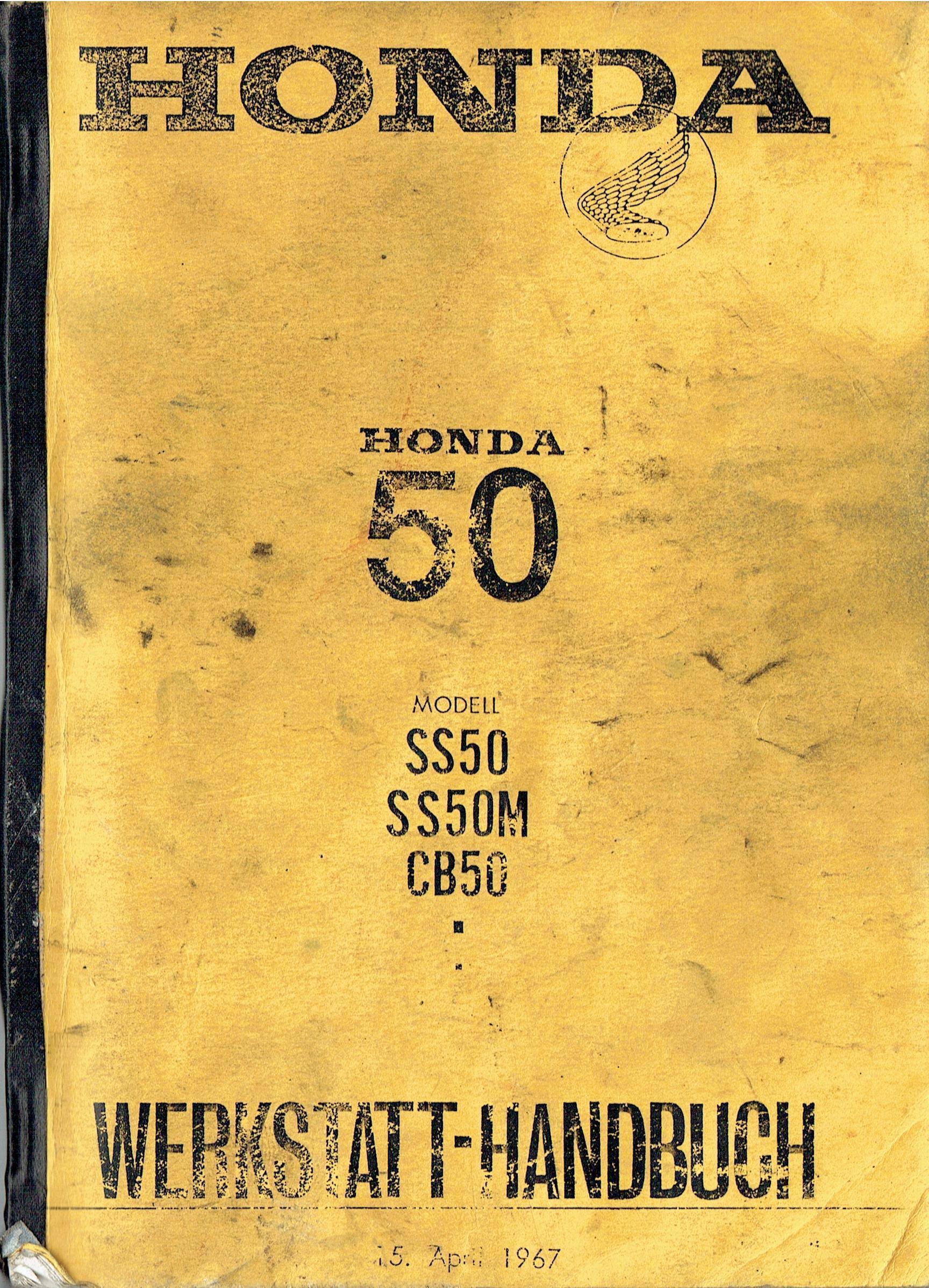 Workshop manual for Honda SS50 (German) (1967)
