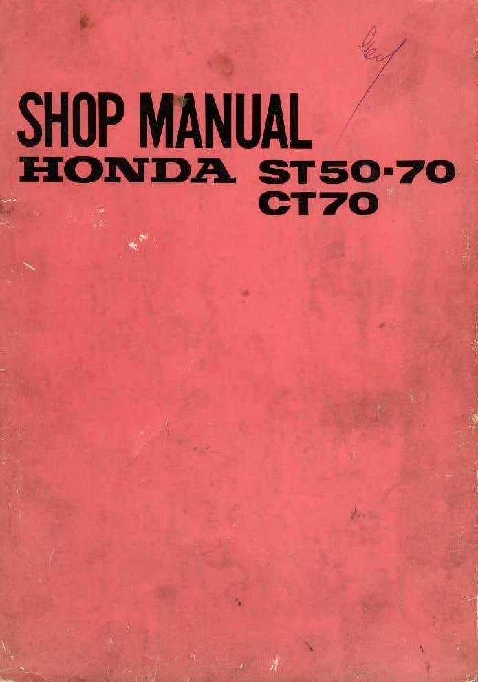 Workshop manual for Honda ST70 (1970)
