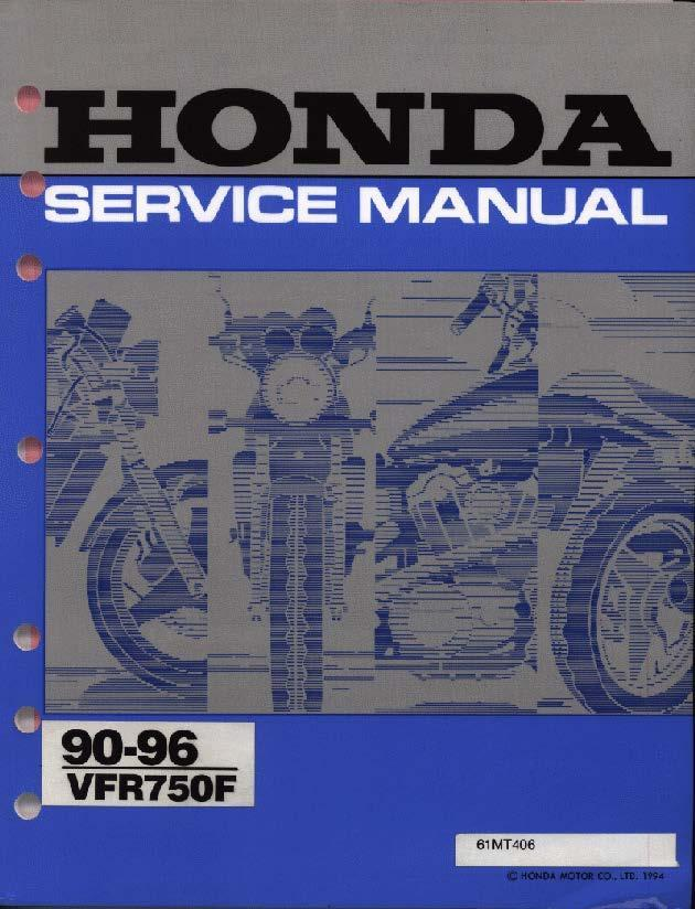 Workshop Manual for Honda VFR750F (1990-1996)