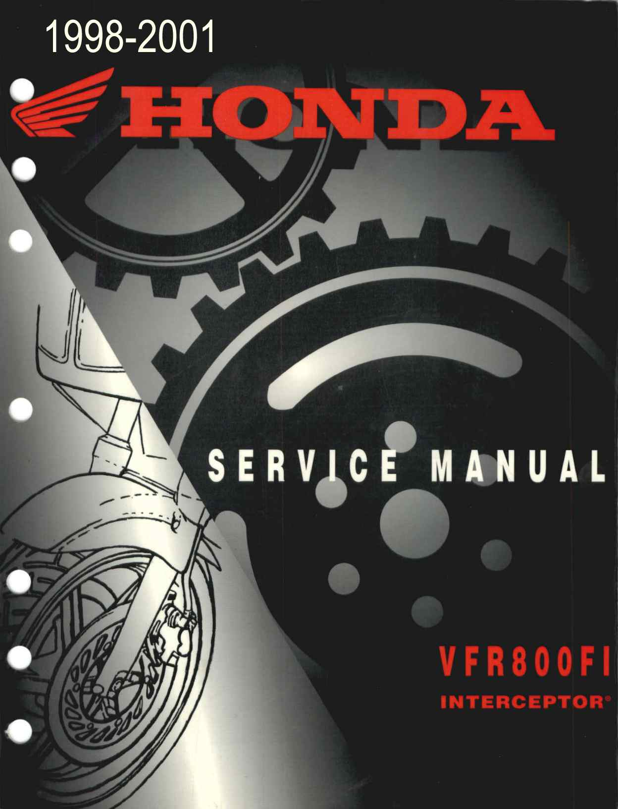 Workshop manual for Honda VFR800FI Interceptor (1998-2001)
