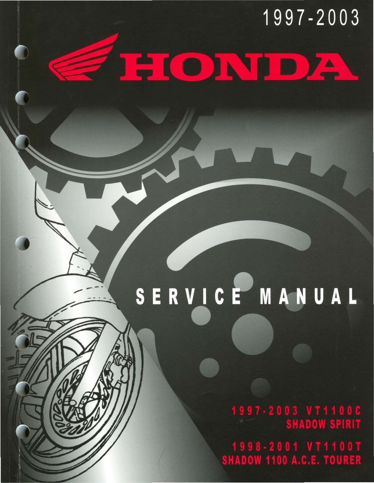 Workshop manual for Honda VT1100C Shadow (1997-2003)