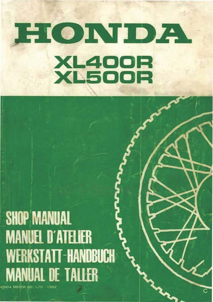 workshop manual for honda xlr stroke net all the workshop manual for honda xl500r 1982